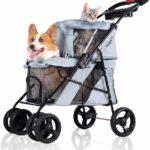 ibiyaya 4 Wheel Double Pet Strollers